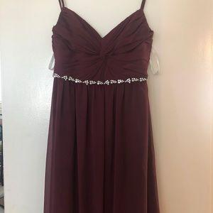 Bridesmaid burgundy dress